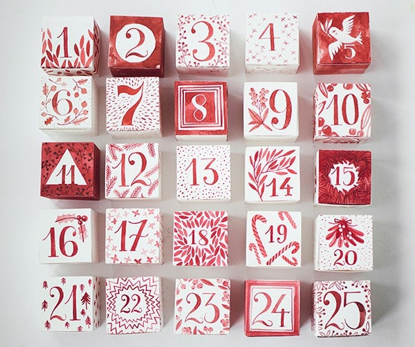 Advent Calendar Diy Template : Top diy printable advent calendar ideas for christmas