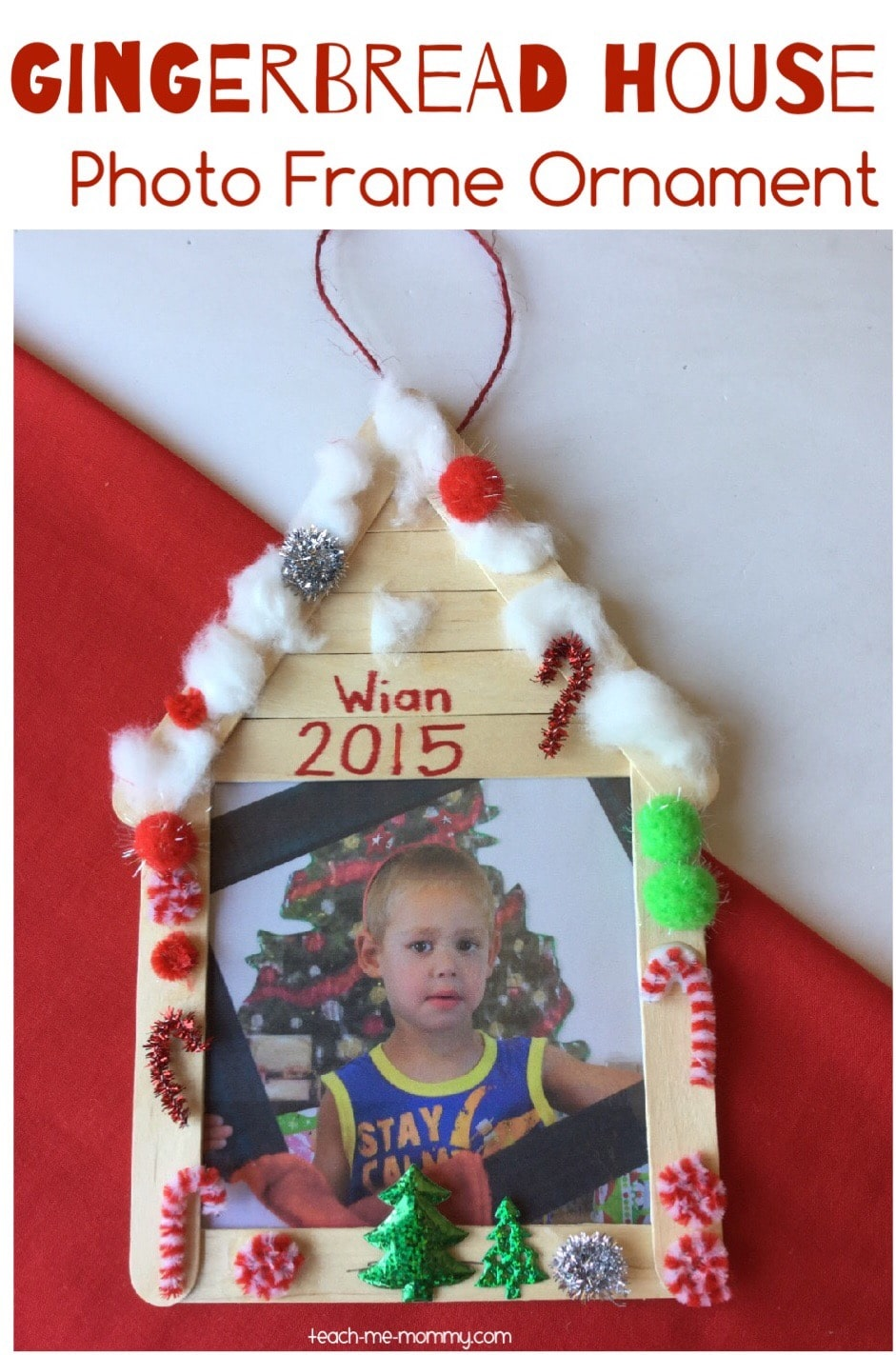 25 fun and easy diy popsicle stick ornaments fun loving for Popsicle stick picture frame christmas