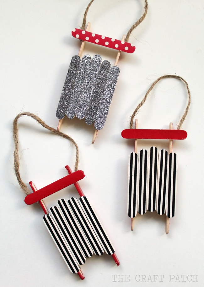 25 fun and easy diy popsicle stick ornaments fun loving for Christmas projects with popsicle sticks