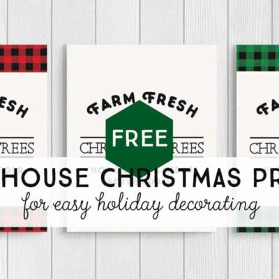 Get your farm fresh Christmas tree printables here. Free printables for easy decorating.
