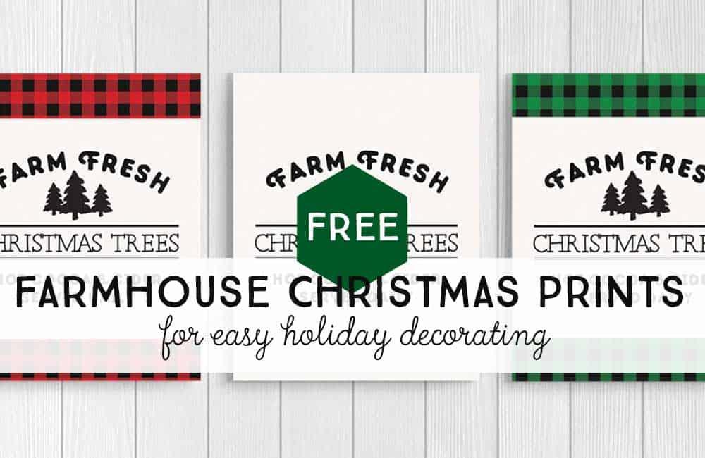 Farm Fresh Christmas Trees Sign: Free Printables