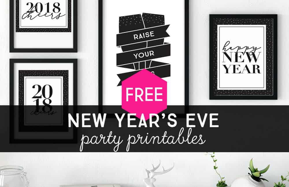 these are super handy especially for last minute new years eve party planning and include printable invitations midnight kisses party favors