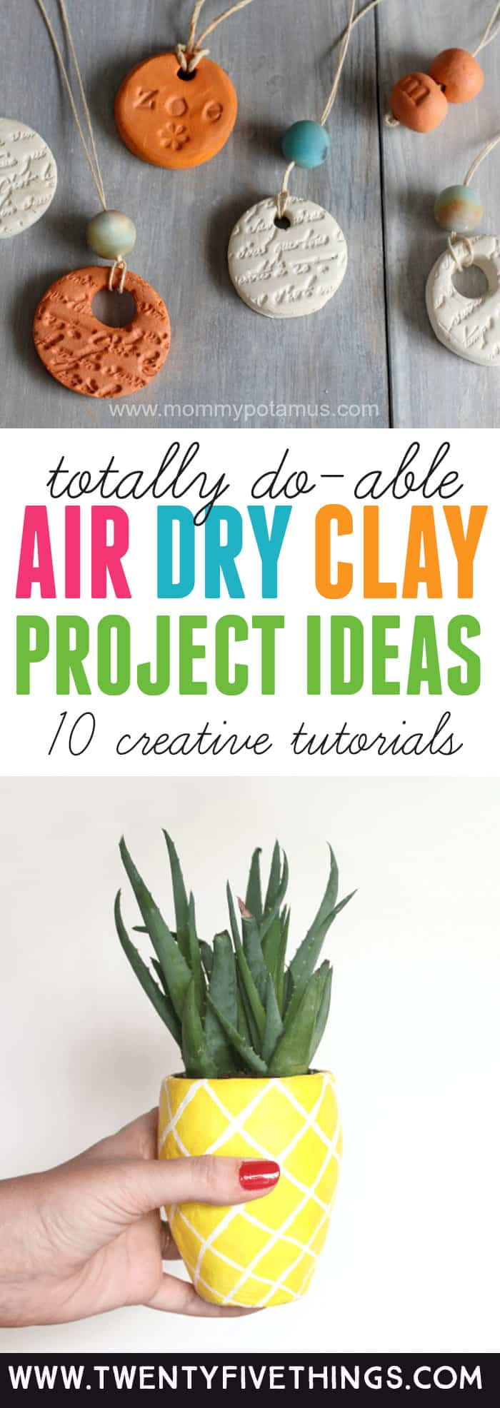 Great list of air dry clay ideas. You can use these air dry clay projects for gifts or as a fun way to spend the afternoon. If you've never used air dry clay, no worries. These projects are easy enough for anyone to try. #AirDryClay
