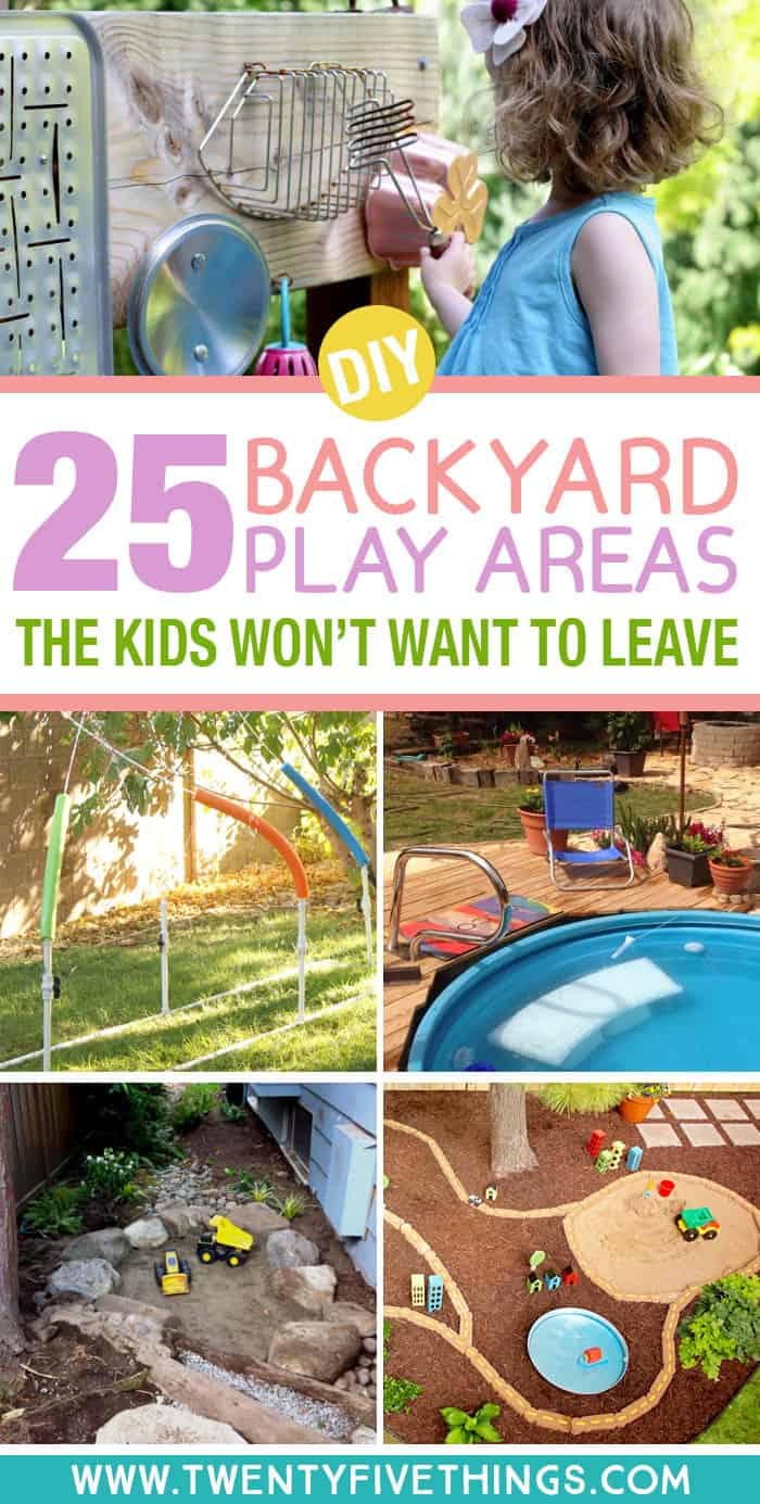 Make an outdoor play space the kids won't want to leave. These DIY backyard ideas for kids will keep the kids playing outside all summer long.