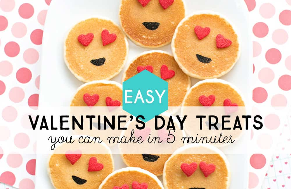 Make these fun and easy Valentine's Day treats in a snap.