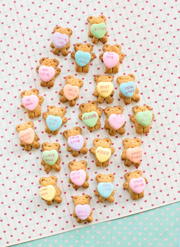 teddy bear graham cracker conversation hearts