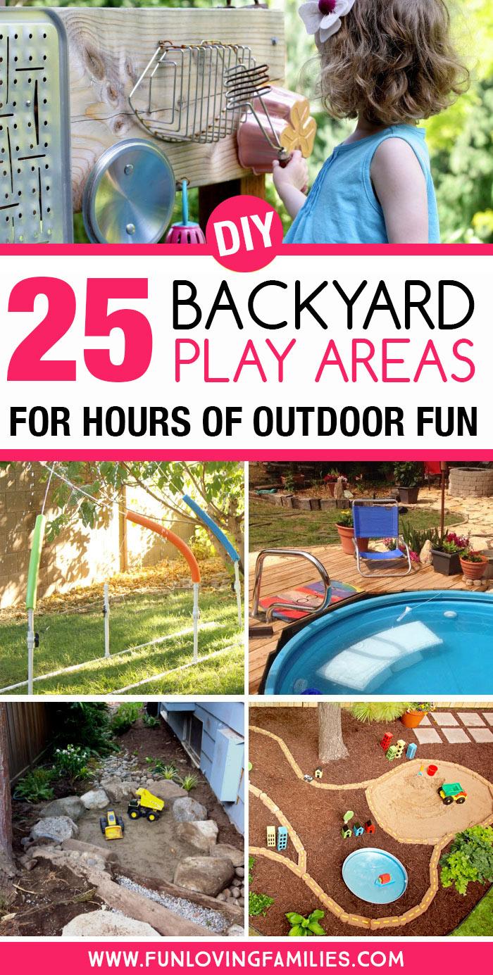diy backyard play areas to make for kids
