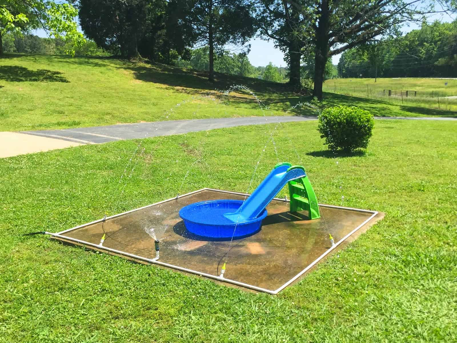 This Easy DIY Splash Pad (via Little White House Blog) Is Just One Of