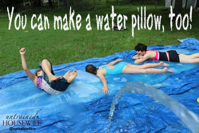 Looking for a way to cool off in the backyard? Check out this awesome tutorial for making a giant water pillow (via Untrained Housewife).