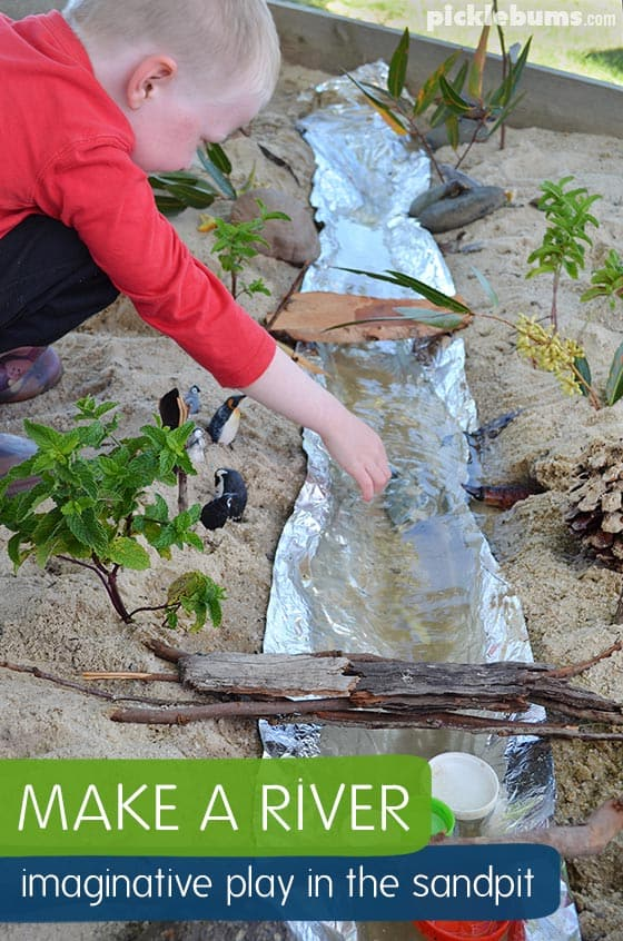 Add a nifty water element to your sand pit that kids will love (via picklebums). So many great ideas here for kids backyard play enviroments.