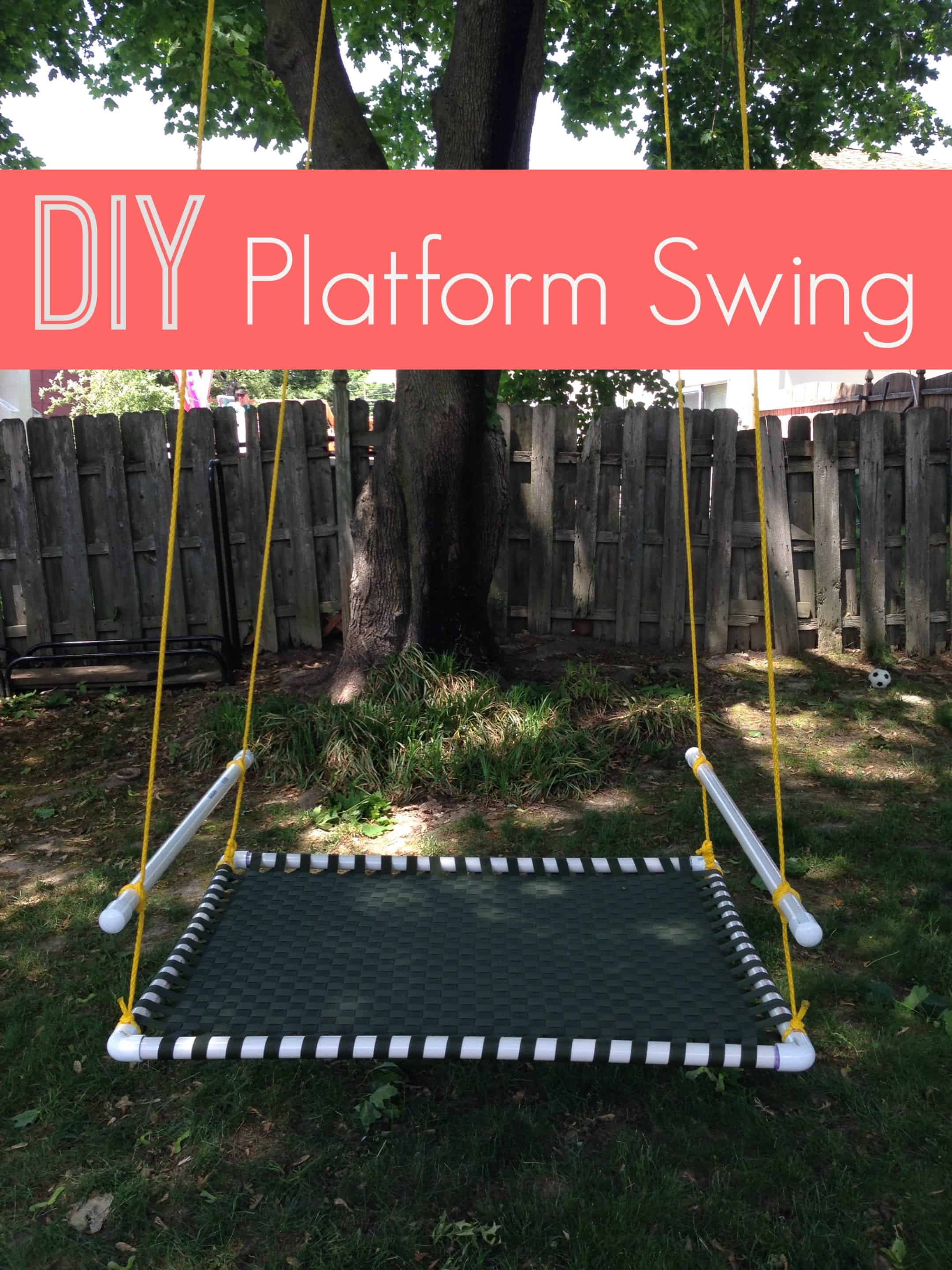I Love This DIY Platform Swing (via The Naughty Mommy). My Kids Would