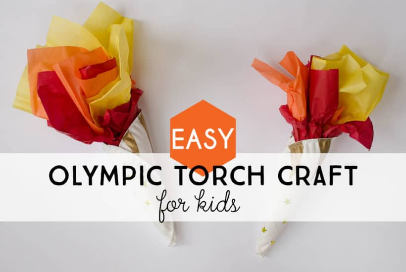 Easy Olympic Torch Craft for Kids