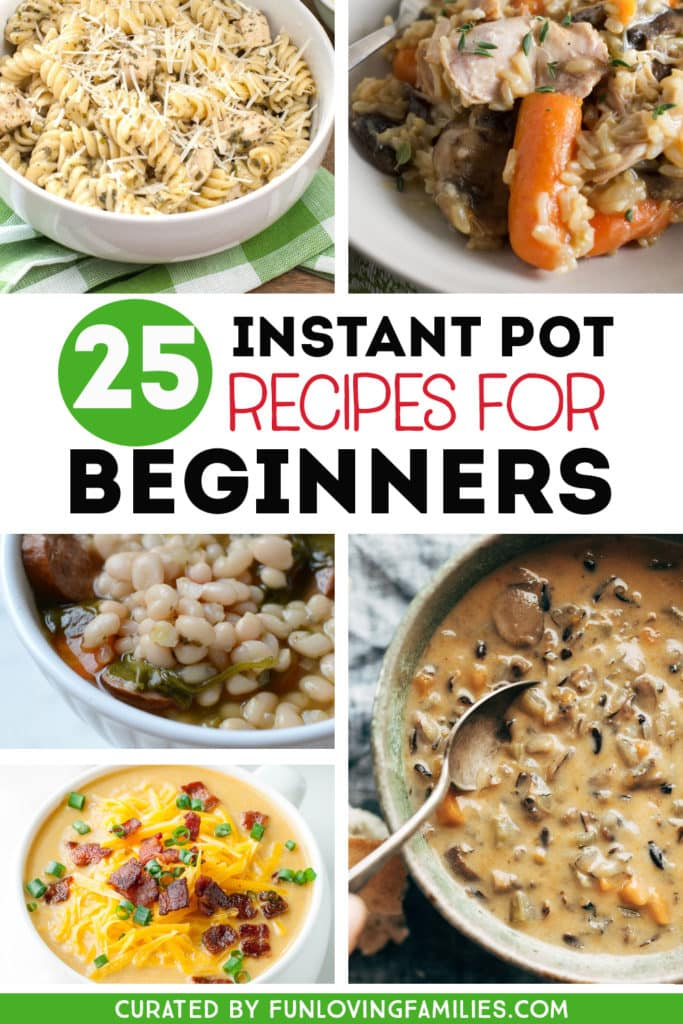 dinners cooked in Instant Pot pressure cooker