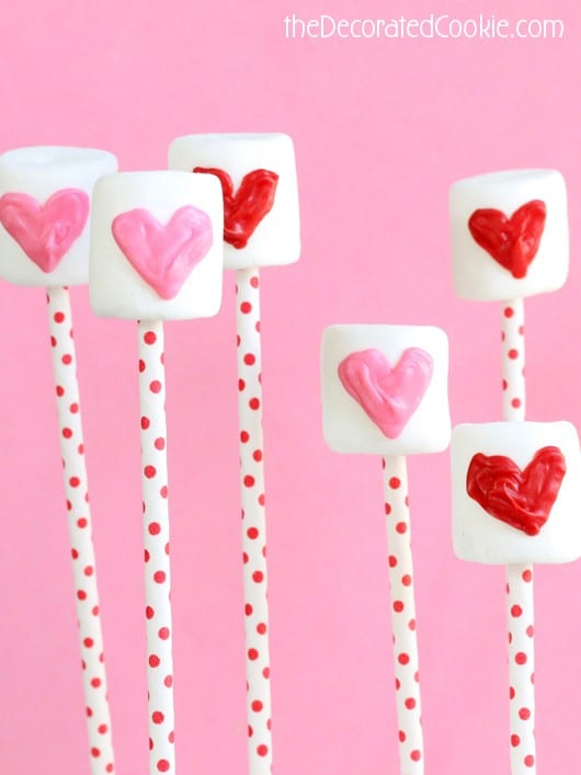 marshmallow candy easy valentine's day treat for kids