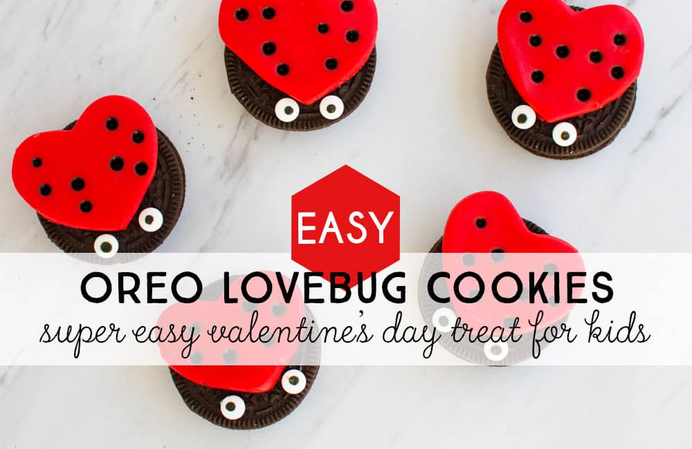Make these adorable Oreo Lovebug cookies for Valentine's Day.