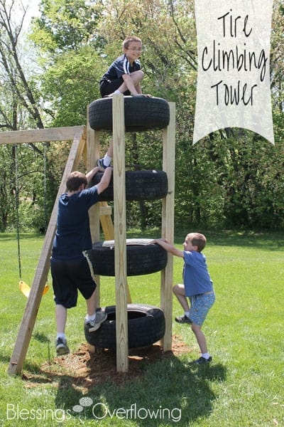 Great List Of DIY Outdoor Play Areas Including This DIY Kids Outdoor  Climbing Tower From Old