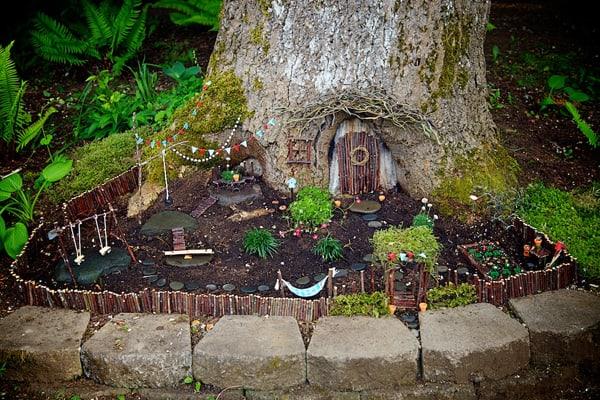 Gnome Garden: 25+ Fun DIY Backyard Play Areas The Kids Will Love
