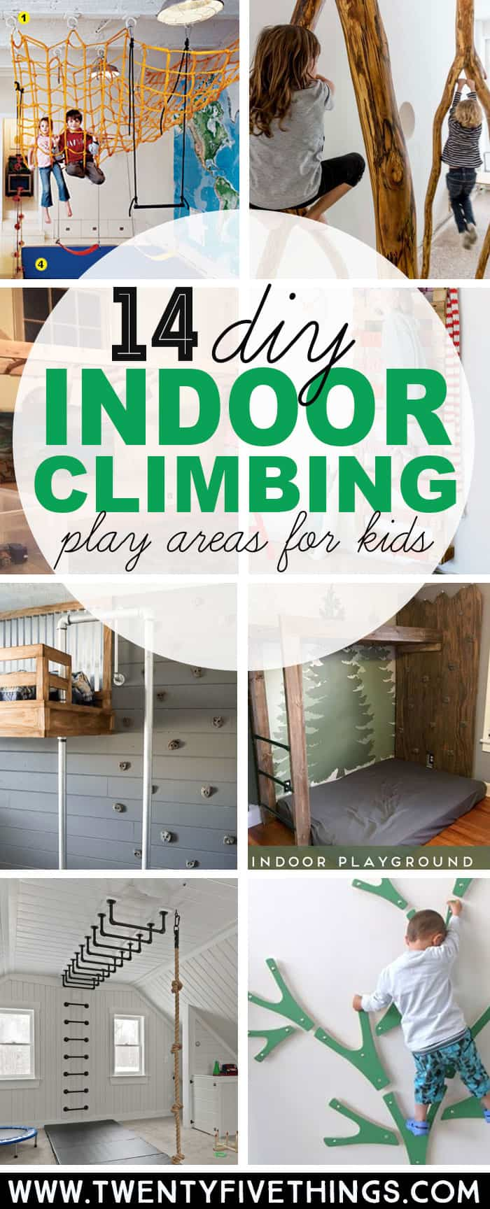 14 genius diy climbing spaces for kids indoor play fun for Diy play structure