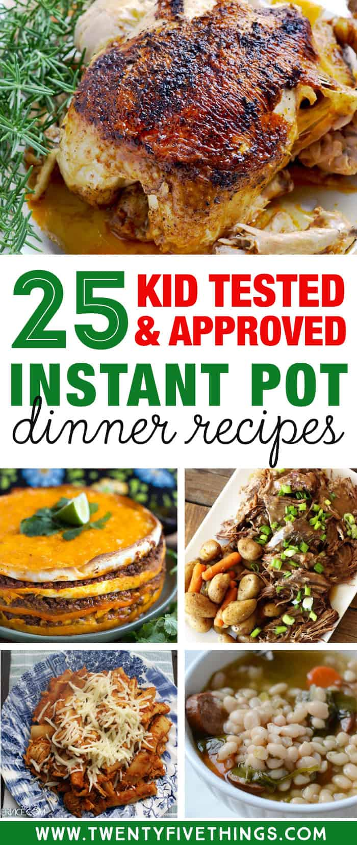 Get some delicious dinner ideas for this week using your Instant Pot. These are all kid friendly instant pot recipes for dinner.