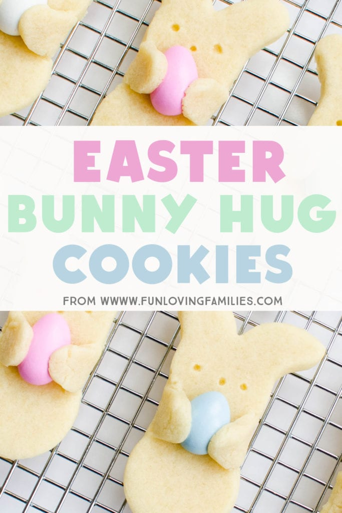 These bunny hug cookies are so adorable and perfect for an easy Easter dessert. #easter #cookies #easterfood