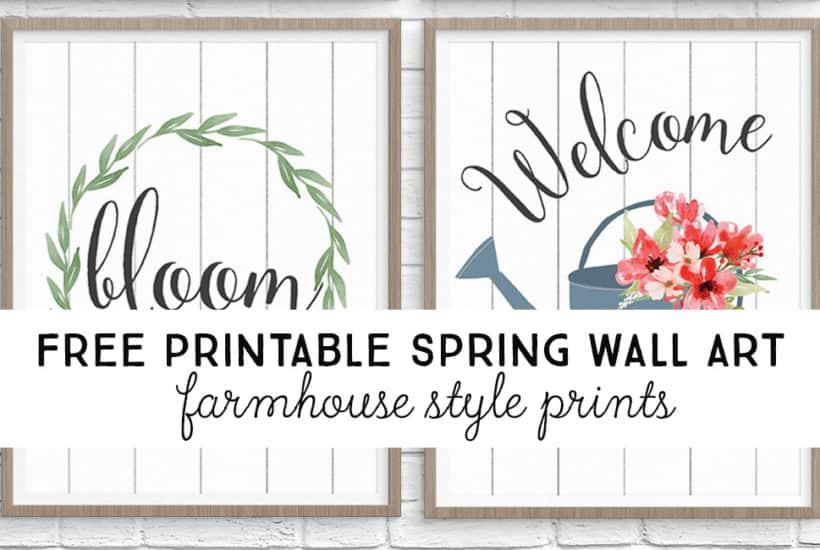 Free printable spring wall art from TwentyFive Things