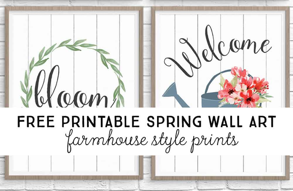 Free printable spring wall art from TwentyFive Things