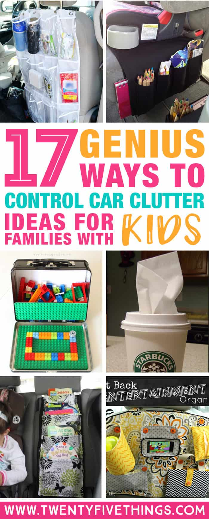 These car organization hacks are perfect if you have kids! These are the absolute best car organization ideas for parents to finally get the clutter under control. Finally, a place for everything! #organizingtips #DIY #lifehacks #TravelWithKids