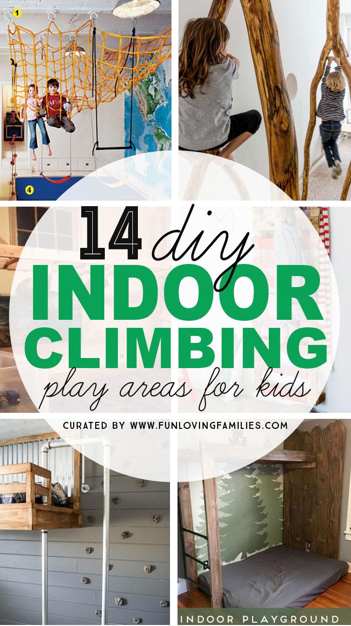 DIY Indoor climbing walls for kids