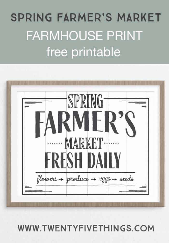 5 Printable Spring Wall Art Farmhouse Style Prints Fun