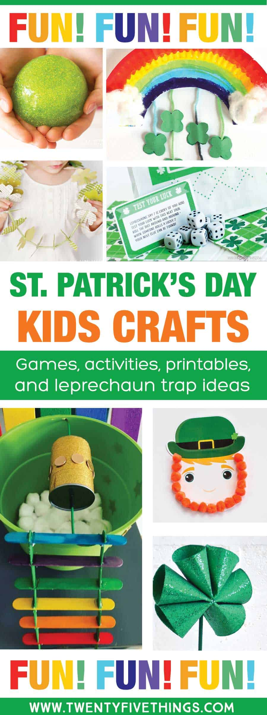 Totally fun St. Patrick's day kids crafts and acivities, with free printable games and awesome leprechaun trap ideas for kids.