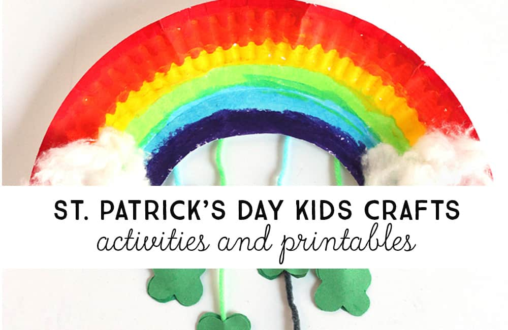Wonderful list of St. Patrick's day kids craft ideas, for little and big kids to do.