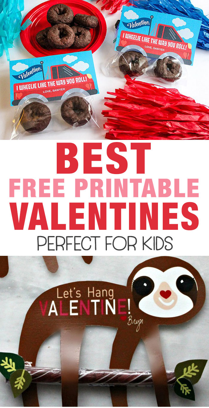 free printable classroom valentines for kids