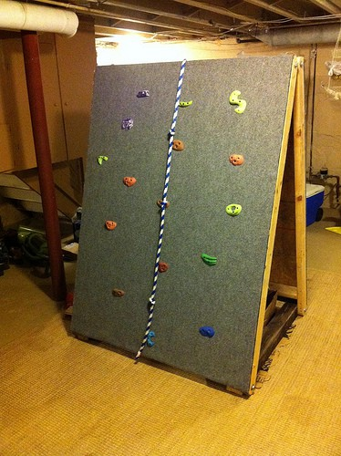 Kids will love conquering this portable indoor climbing wall from See Simplified.