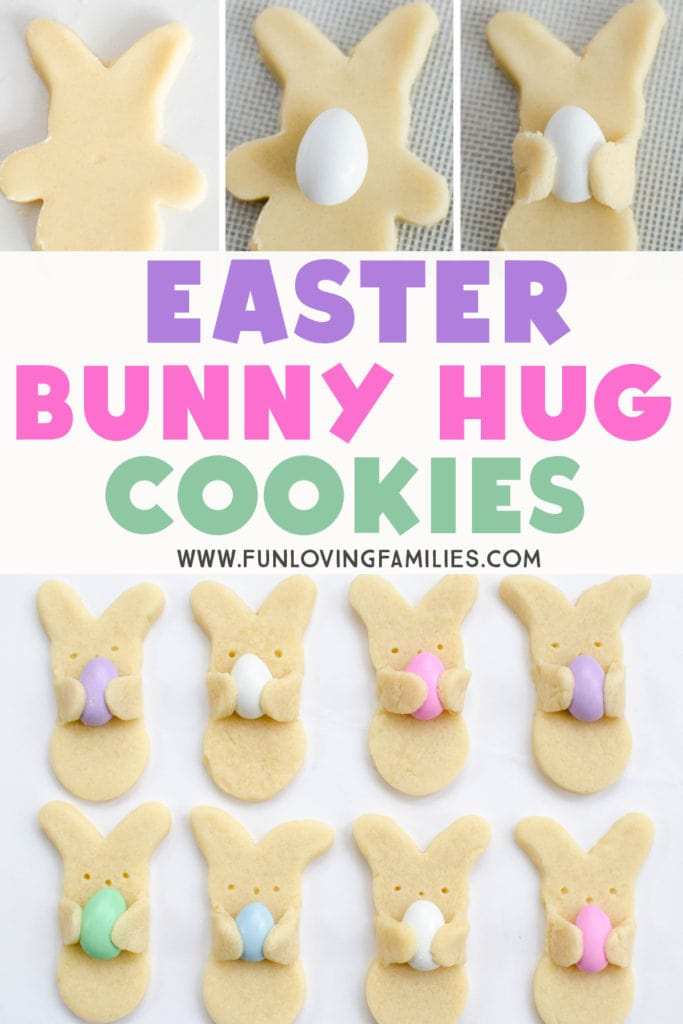 See how to make these easy Easter cookies. Great Easter dessert idea for kids. #easter #easterfood #eastercookies #cookies