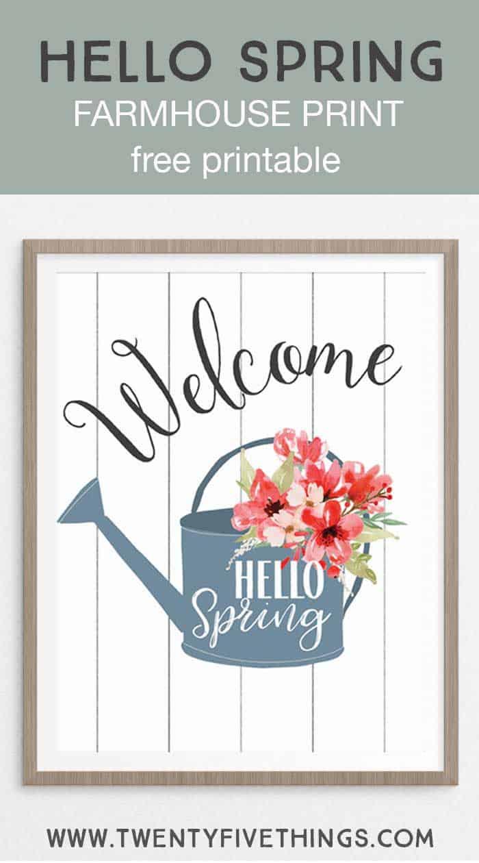 Hello spring farmhouse print