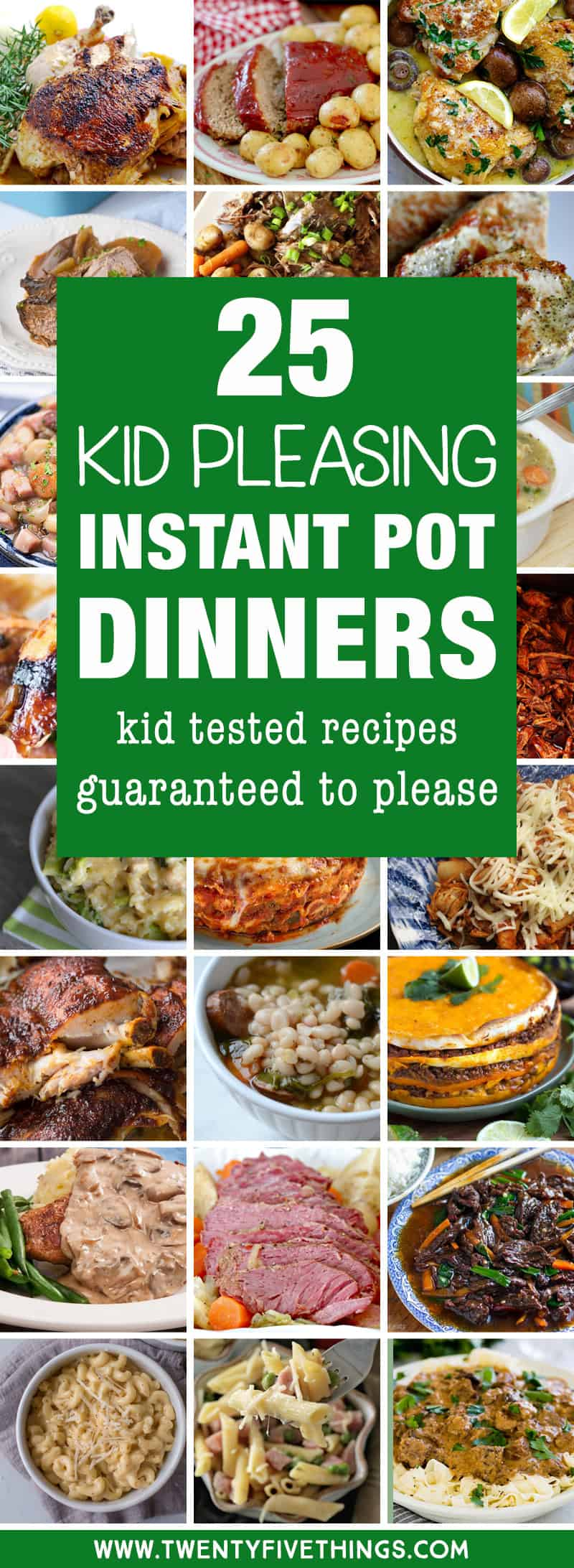 Look at these kid friendly instant pot recipes before you do your meal planning this week. You'll love the dinner ideas that you can make easily in your Instant Pot and they're all dinner recipes that kids will love.