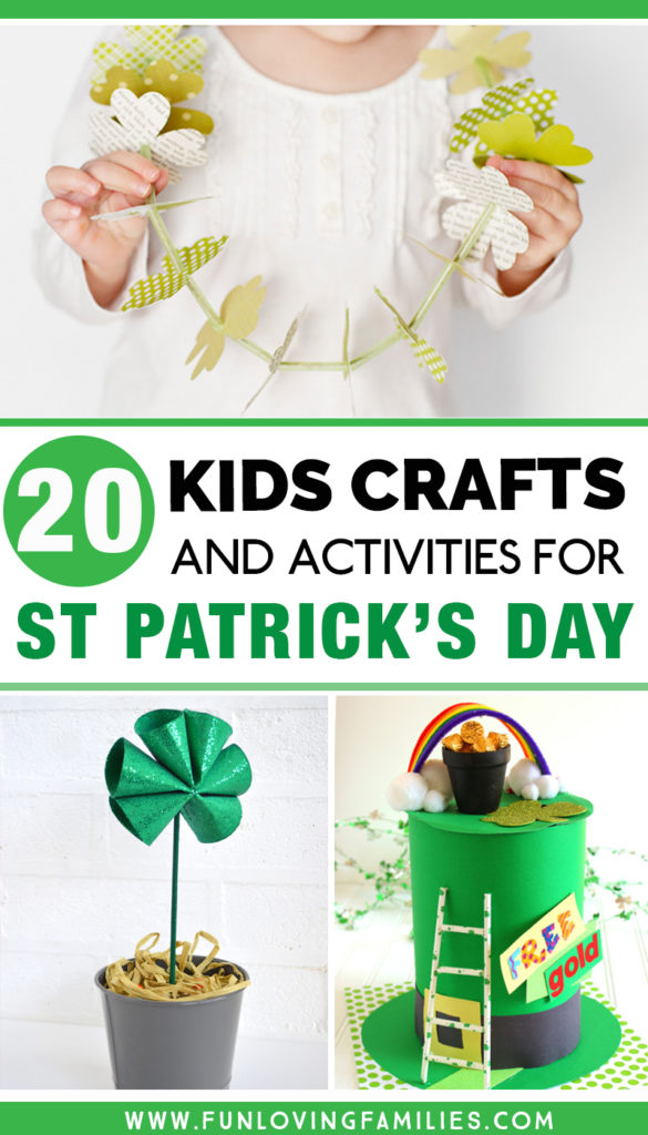 kids crafts and activities for st. patrick's day