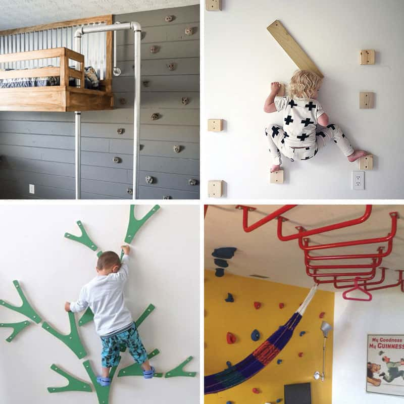 Build your own indoor climbing area for kids. Lots of great ideas.