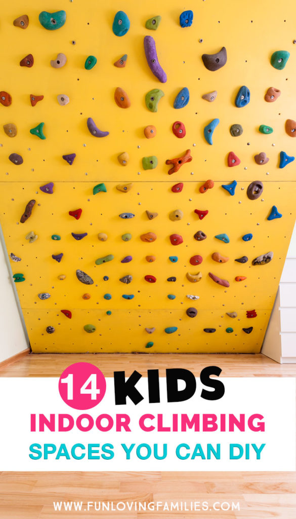 yellow climbing wall for kids play area