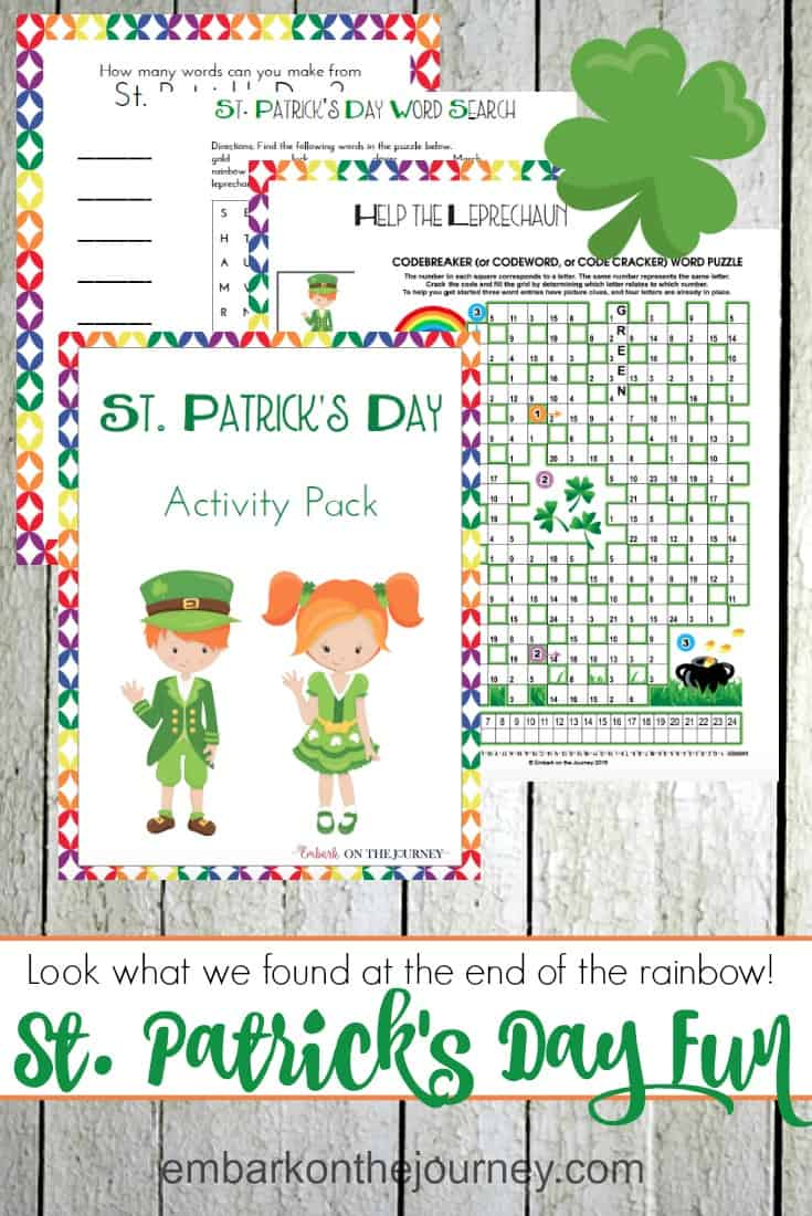 printable st patricks day activity pack - St Patricks Day Printables