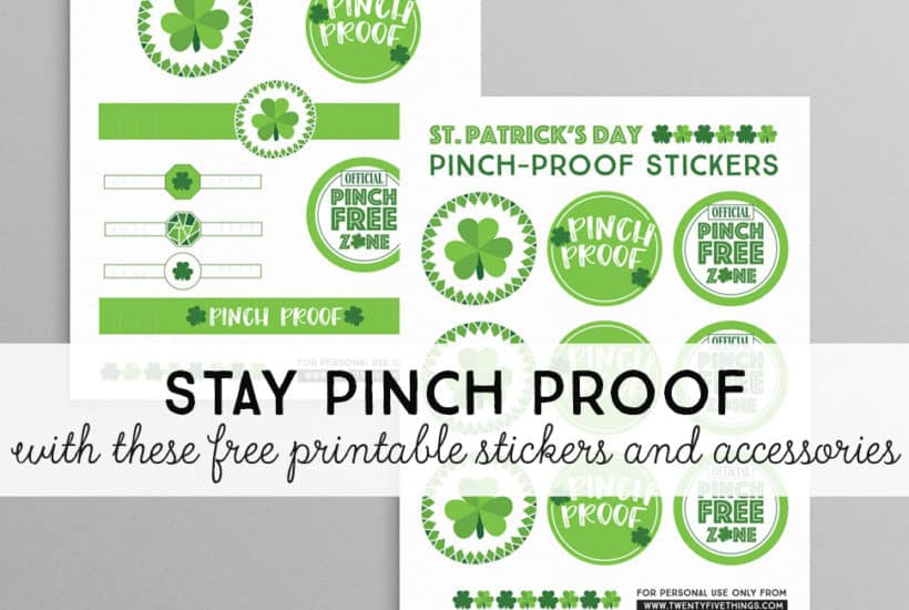 St. Patrick's Day Pinch Proof Printables