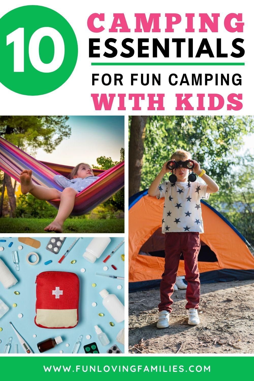 kids camping essentials image