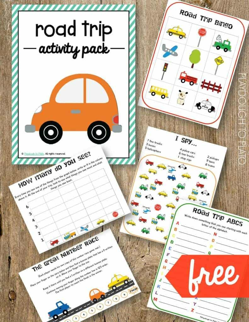 Free printable road trip activity pack for kids from Playdough to Plato. Check out all of the amazing printable road trip games we've collected for you.