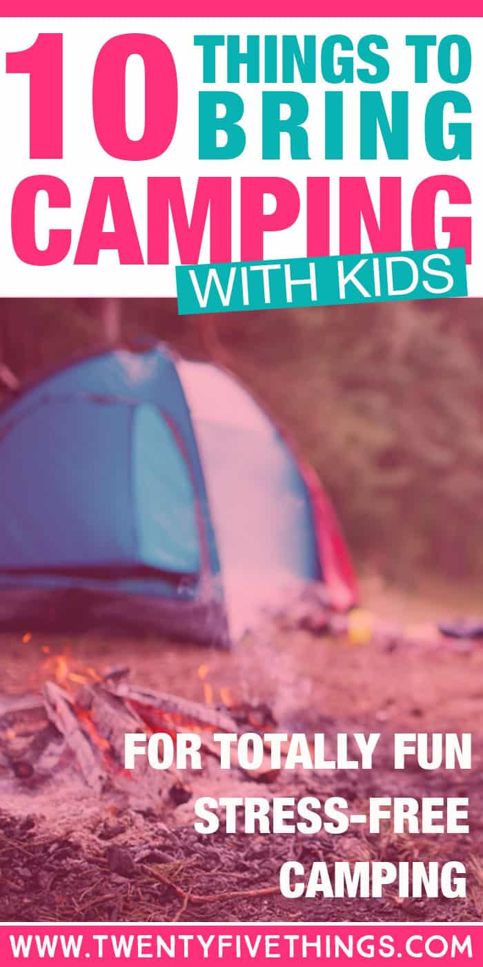 Tips and ideas for fun camping activities for kids. Great ideas of things to bring when camping with kids to keep things fun.
