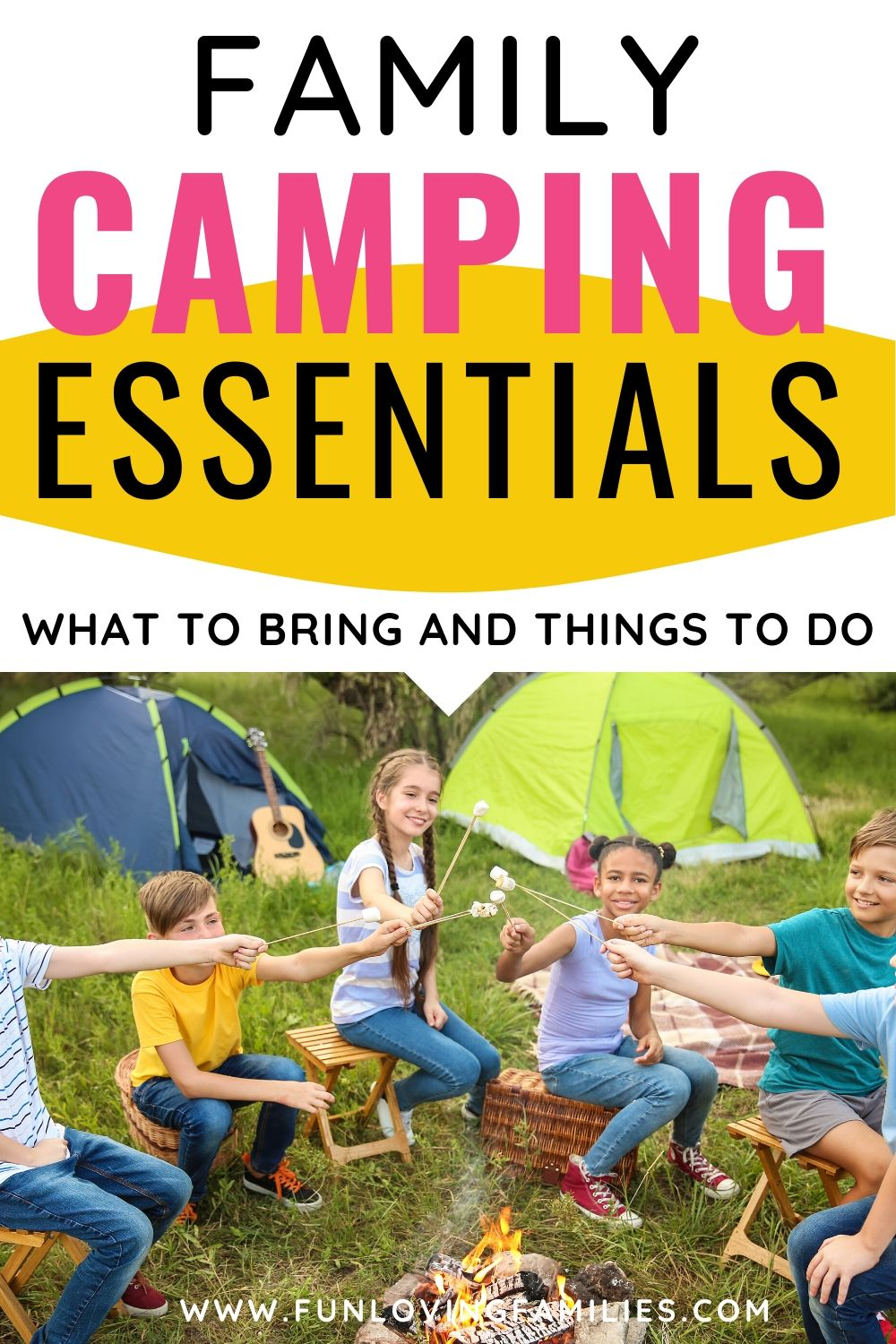 family camping guide with kids