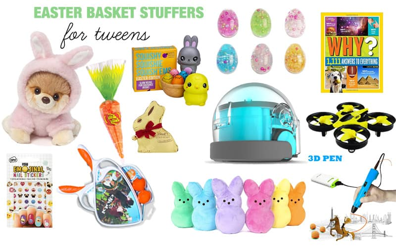 Easter basket stuffers ideas for every age twentyfive things easter basket stuffers for tweens row 1 negle Choice Image