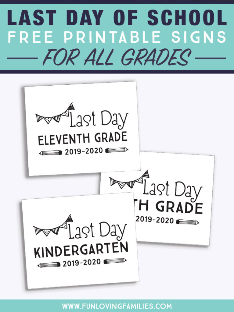 black and white last day of school printables