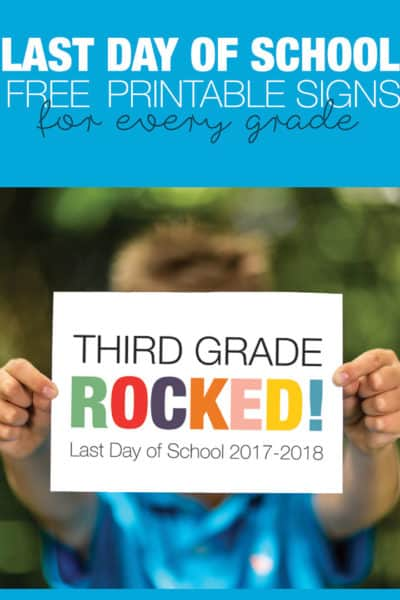 The kids are ready, we're ready. Let's celebrate the last day of school with these colorful free last day of school signs. Click through for printables for every grade. New for 2018.