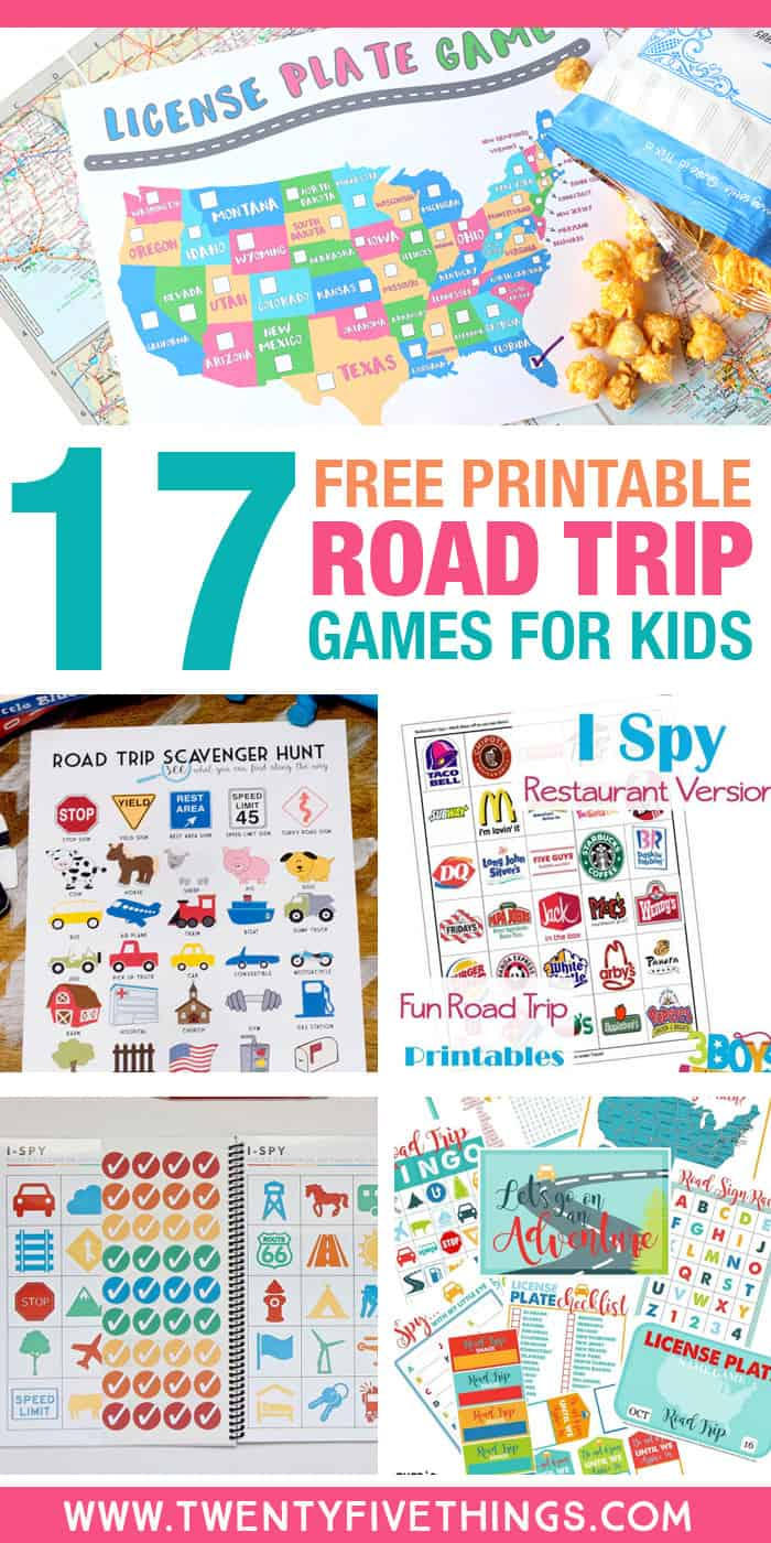 Use these free printable road trip games for kids to make your next long car ride a breeze.