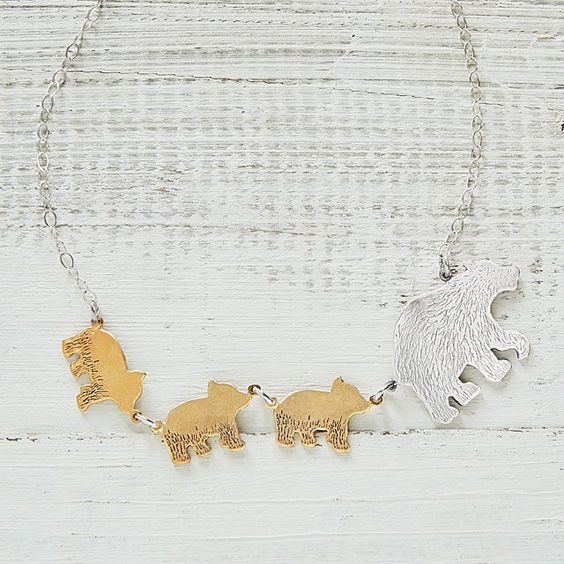 Mama bear necklace personalized gift idea for mom.